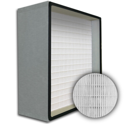 SuperFlo Max HEPA 99.99% Metal Cell Gasket Up Stream Frame Mini Pleat Filter 24x24x12