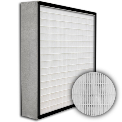 SuperFlo Max HEPA 99.97% Metal Cell Gasket Up Stream Frame Mini Pleat Filter 12x24x4