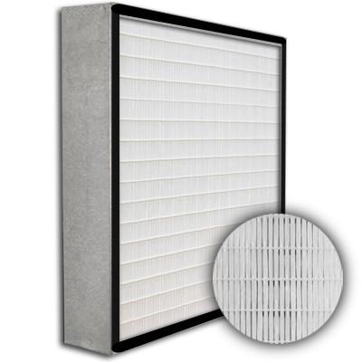 SuperFlo Max HEPA 99.99% Metal Cell Gasket Up Stream Frame Mini Pleat Filter 24x24x4