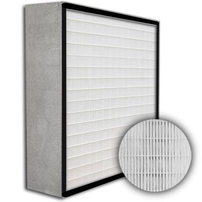 SuperFlo Max HEPA 99.97% Metal Cell Gasket Up Stream Frame Mini Pleat Filter 12x12x6