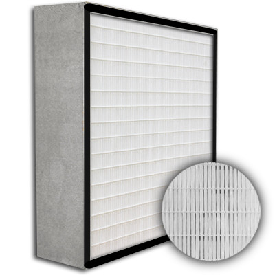 SuperFlo Max HEPA 99.99% Metal Cell Gasket Up Stream Frame Mini Pleat Filter 12x12x6
