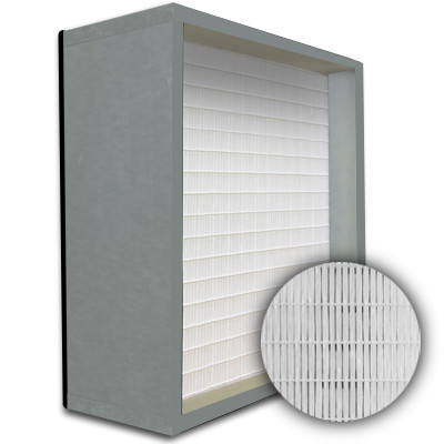 SuperFlo Max HEPA 99.999% Metal Cell Gasket Down Stream Frame Mini Pleat Filter 12x24x12