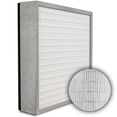 SuperFlo Max HEPA 99.999% Metal Cell Gasket Down Stream Frame Mini Pleat Filter 12x24x4