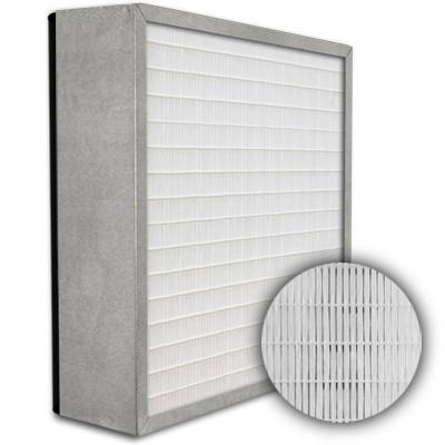 SuperFlo Max HEPA 99.999% Metal Cell Gasket Down Stream Frame Mini Pleat Filter 12x24x6