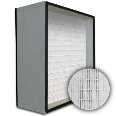 SuperFlo Max HEPA 99.999% Metal Cell Gasket Both Sides Frame Mini Pleat Filter 24x24x12
