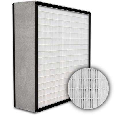 SuperFlo Max HEPA 99.999% Metal Cell Gasket Both Sides Frame Mini Pleat Filter 24x24x6