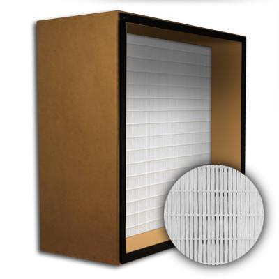 SuperFlo Max HEPA 99.99% Particle Board Gasket Up Stream Mini Pleat Filter 20x20x12