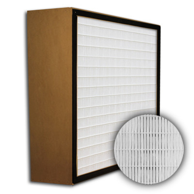 SuperFlo Max HEPA 99.99% Particle Board Gasket Up Stream Mini Pleat Filter 12x24x6