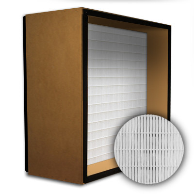 SuperFlo Max HEPA 99.99% Particle Board Gasket Both Sides Frame Mini Pleat Filter 12x24x12
