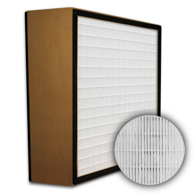 SuperFlo Max HEPA 99.99% Particle Board Gasket Both Sides Frame Mini Pleat Filter 12x24x6