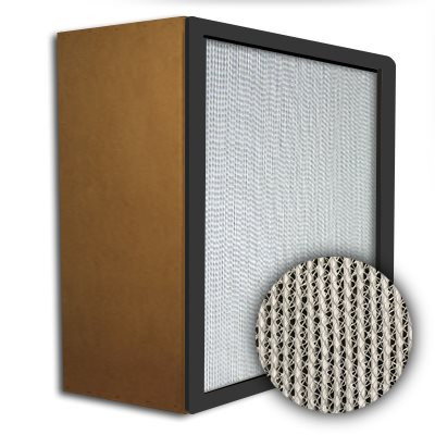 Puracel HEPA 99.999% High Capacity Box Filter Particle Board Gasket Up Stream Under Cut 23-3/8x23-3/8x11-1/2
