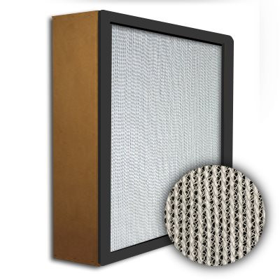 Puracel HEPA 99.999% High Capacity Box Filter Particle Board Gasket Up Stream Under Cut 23-3/8x23-3/8x5-7/8