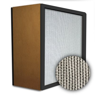 Puracel HEPA 99.99% High Capacity Box Filter Particle Board Gasket Both Sides Under Cut 23-3/8x23-3/8x11-1/2