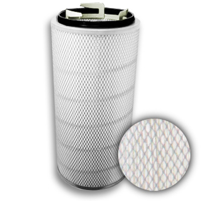 "13"" x 34"" Spiral-Flo 80/20 Polyester/Cellulose Twist-Lock Pneuma-Pulse w/Galvanized End Cap"