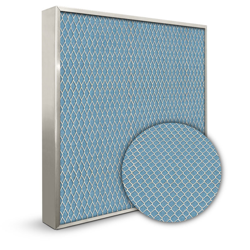 Lifetime 14x25x2 Electrostatic Furnace Filter Silver Frame