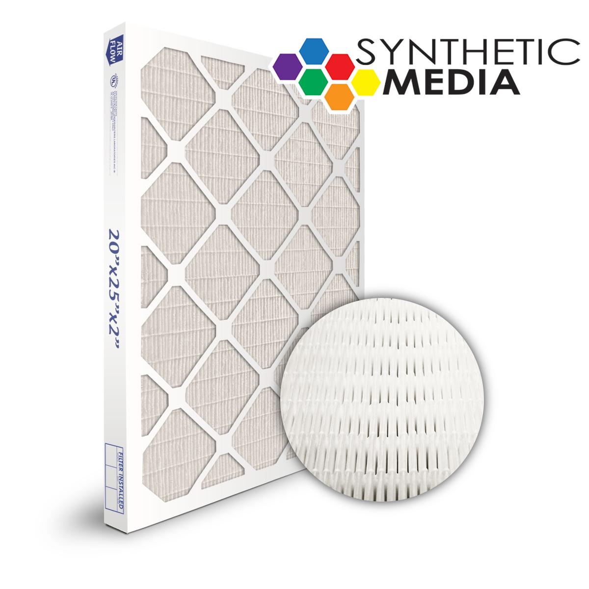 SuperFlo Max Synthetic ASHRAE 95% (MERV 14/15) Dia-Cut Card Board Frame Mini Pleat Filter 16x25x2