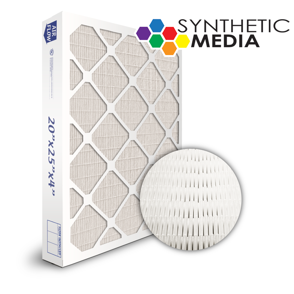 SuperFlo Max Synthetic ASHRAE 95% (MERV 14/15) Dia-Cut Card Board Frame Mini Pleat Filter 20x24x4