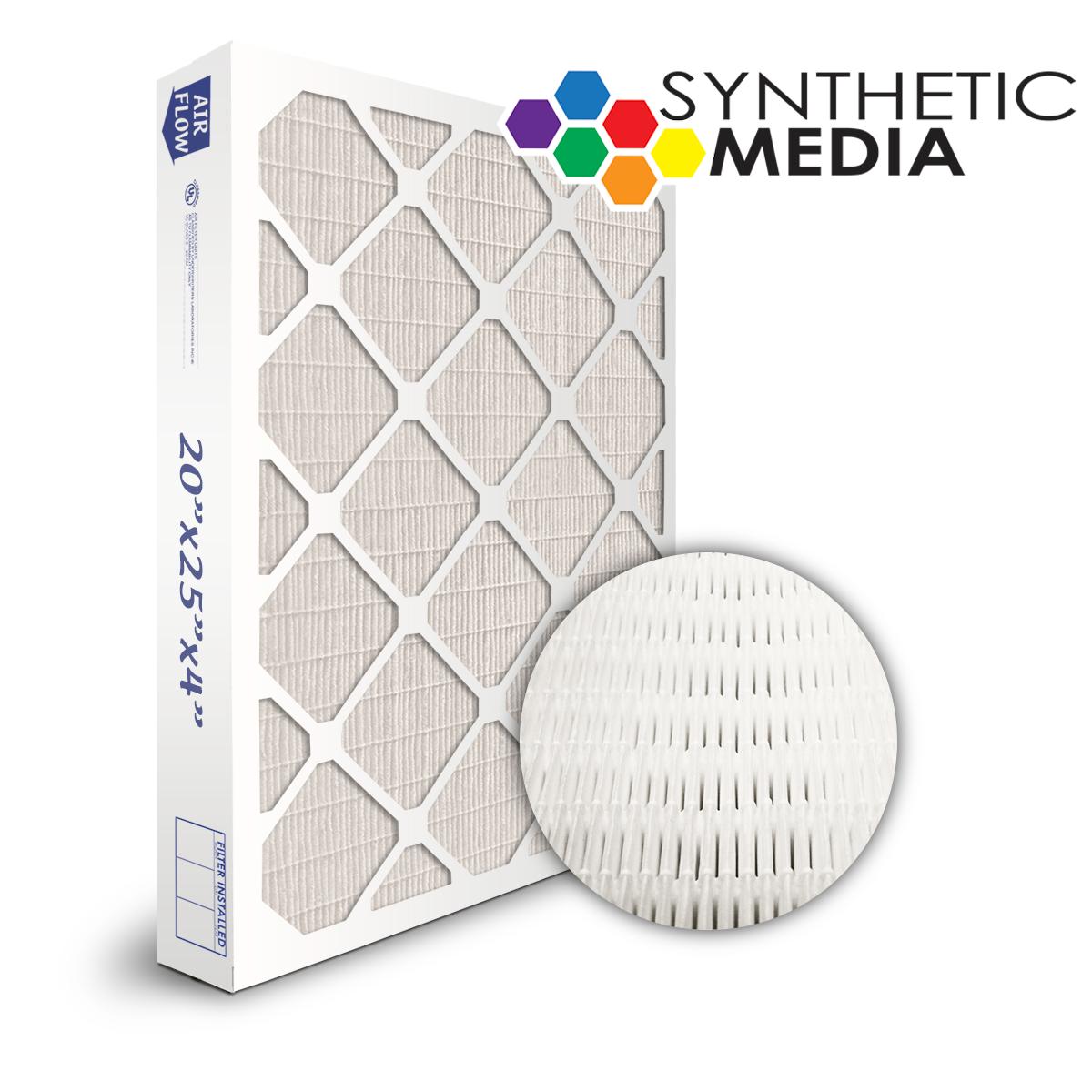 SuperFlo Max Synthetic ASHRAE 65% (MERV 11/12) Dia-Cut Card Board Frame Mini Pleat Filter 20x25x4