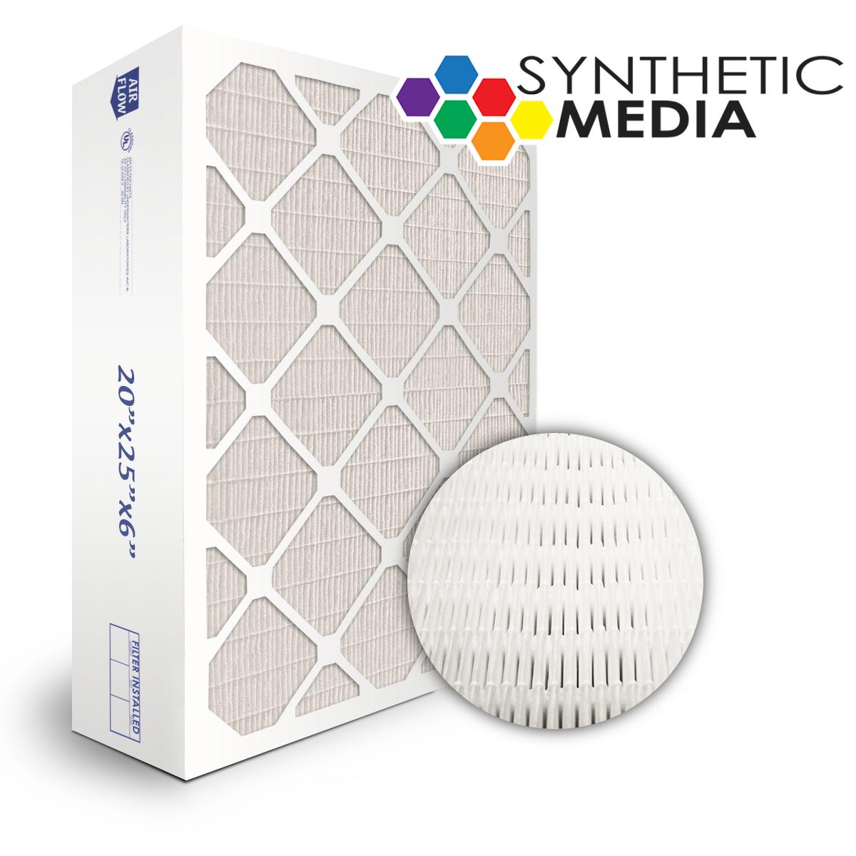 SuperFlo Max Synthetic ASHRAE 95% (MERV 14/15) Dia-Cut Card Board Frame Mini Pleat Filter 24x24x6