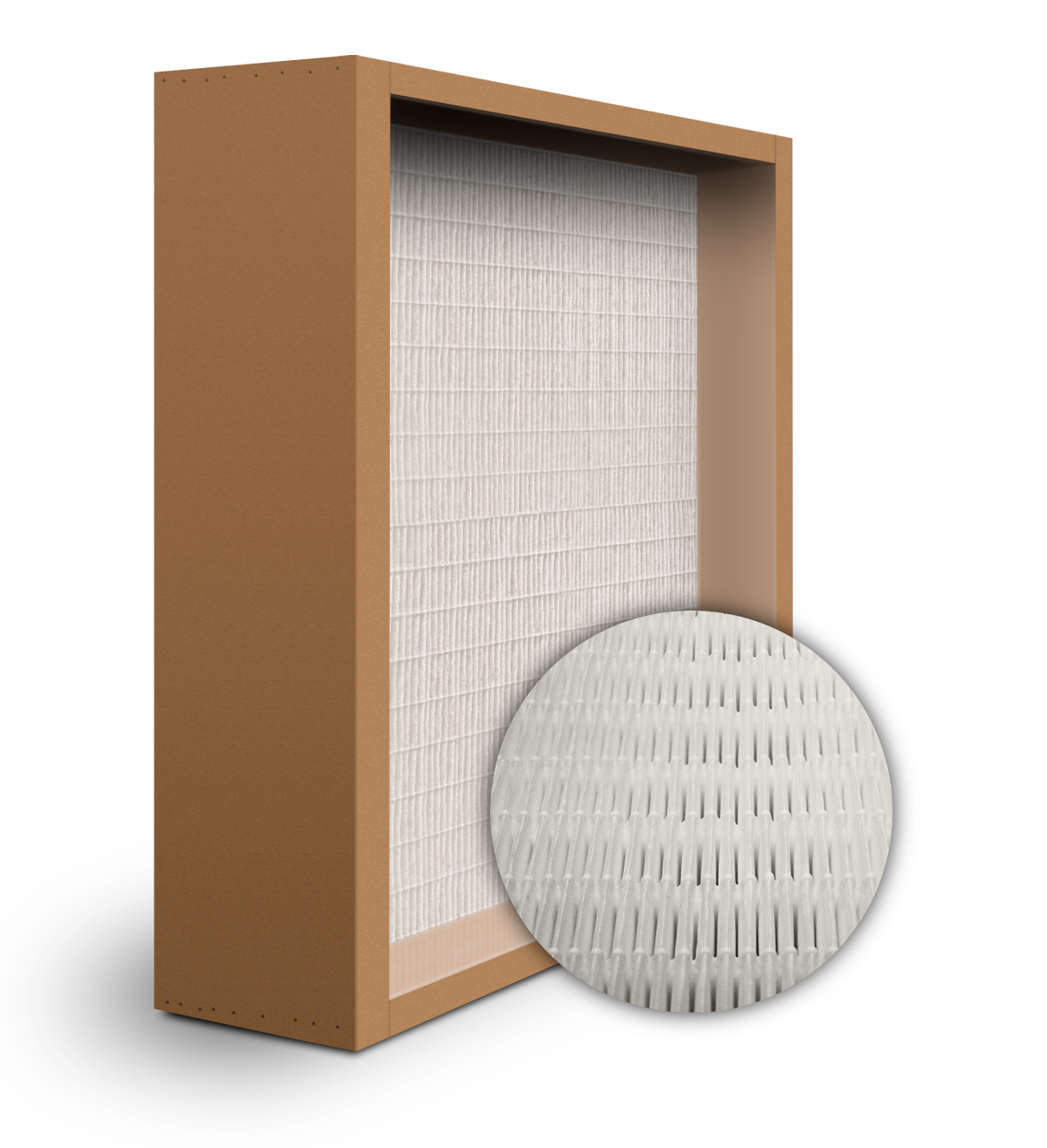 SuperFlo Max ASHRAE 65% (MERV 11/12) Particle Board Frame Mini Pleat Filter 24x24x6