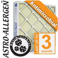 12x20x1 Astro-Allergen Antimicrobial AC / Furnace Filter