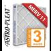 16x25x4 Astro-Pleat MERV 11 Standard Pleated AC / Furnace Filter